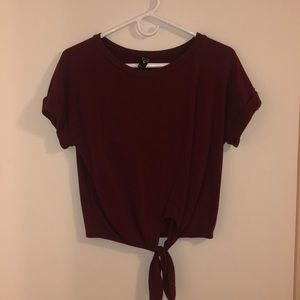Maroon Blouse with front tie